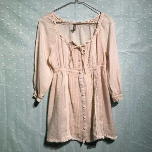 Charlotte Russe ivory lace top
